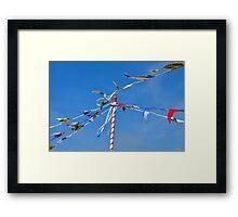 Summer bunting Framed Print