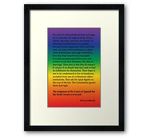 Gay Marriage SCOTUS Ruling Framed Print