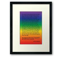 Gay Marriage SCOTUS Ruling Framed Print