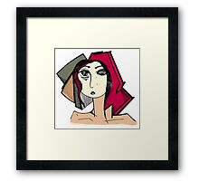 Portrait of a Women Framed Print