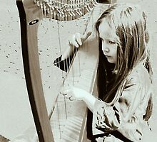 Little girl playing Bach at a public place  by bubblehex08