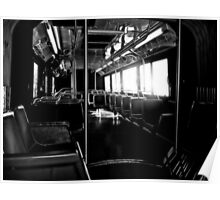 alone on the bus. alone everywhere Poster
