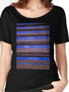 blue staircase Women's Relaxed Fit T-Shirt