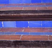 blue staircase Sticker