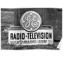 GE Radio Television Poster