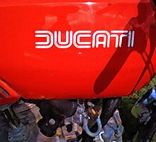 Ducati Desmo gas tank and engine by Dave McBride