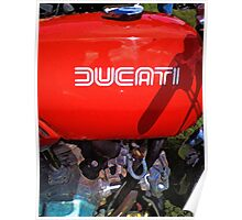 Ducati Desmo gas tank and engine Poster