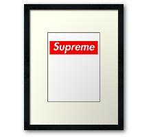 Supreme Framed Print
