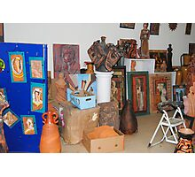 sculptures in ceramic F.K 34 Photographic Print