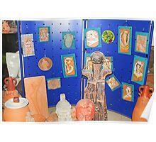 sculptures in ceramic F.K 33 Poster