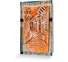 sculptures in ceramic F.K 27 Greeting Card