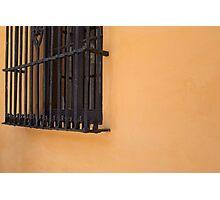 orange wall Photographic Print