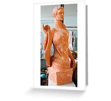 art in ceramic F.Kalemi 15 Greeting Card