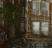 Raindrops, Ripples and Fabulous Reflections of Amsterdam Canal Houses Sticker