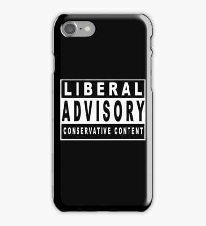 Conservative Content - Leans Right - Warning of Conservative Content - Pro-GOP - Republicans - Politics iPhone Case/Skin
