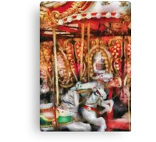 Americana - The Carousel - Painted Version Canvas Print