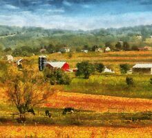 Country - Cows Grazing by Mike  Savad