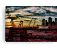 City - NY - Overlooking the Hudson Canvas Print
