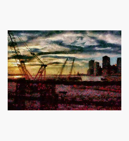 City - NY - Overlooking the Hudson Photographic Print