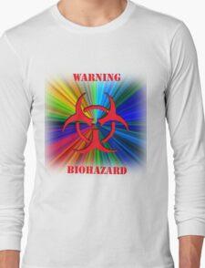 WARNING BIOHAZARD Long Sleeve T-Shirt