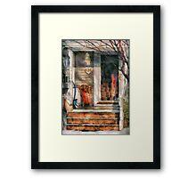 Winter - Rosebud and Shovel Framed Print