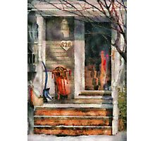 Winter - Rosebud and Shovel Photographic Print