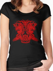 Monster Coat of Arms Women's Fitted Scoop T-Shirt