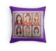 TIARA SISTERS - totebags and other Throw Pillow
