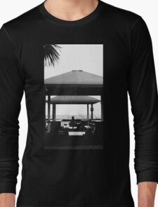 Black and White Ocean  Long Sleeve T-Shirt