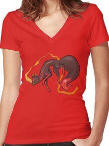 Kitsune Women's Fitted V-Neck T-Shirt