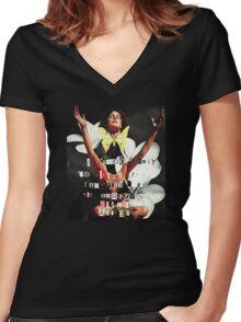 I Awoke- Leonardo da Vinci Women's Fitted V-Neck T-Shirt