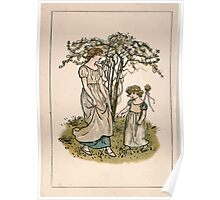 Kate Greenaway Almanack 1893 0018 April Flowers Poster