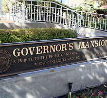 Nevada Governor's Mansion Plaque by Lynn Bawden