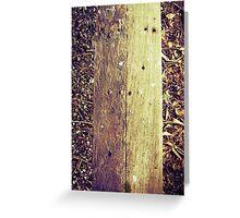 old wood Greeting Card