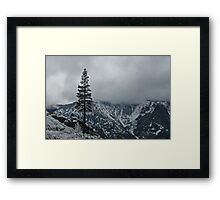 Upper Falls Trail Snow Line Framed Print