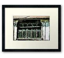 Old Whitewash and Dirty Window Framed Print