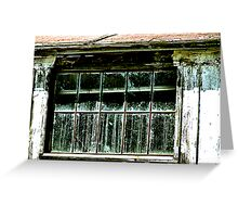 Old Whitewash and Dirty Window Greeting Card