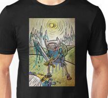 Adventure Time, Finn, Ice King, print, Children's Room , Wall Art, Cartoon Network, Art print, Fin, cartoon, TV, show, sword, blue blood, snow, mountains, backpack Unisex T-Shirt