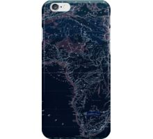 Atlas zu Alex V Humbolt's Cosmos 1851 0167 Africa Mountains and Waterways Inverted iPhone Case/Skin