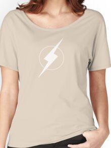 Simplistic Flash Symbol white Women's Relaxed Fit T-Shirt