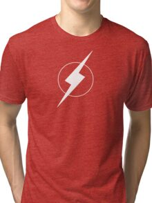 Simplistic Flash Symbol white Tri-blend T-Shirt