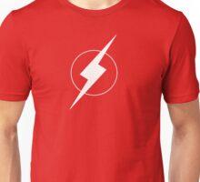Simplistic Flash Symbol white Unisex T-Shirt