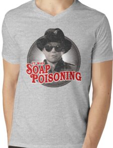 A Christmas Story - Ralphie and the Soap - Soap Poisoning - Christmas Movie Pop Culture - Holiday Movie Parody Mens V-Neck T-Shirt