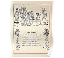 Miniature Under the Window Pictures & Rhymes for Children Kate Greenaway 1880 0009 Poor Dickey Poster