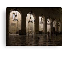 Syracuse Cathedral - an Ancient Greek Temple, 2500 Years Old Canvas Print