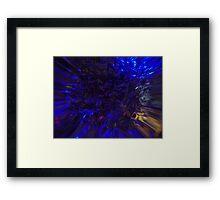 Blue Rush Framed Print