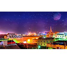 Star Trails Over The City Photographic Print