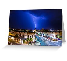 Lighting Crash Greeting Card