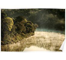 Misty River Morning 2 Poster