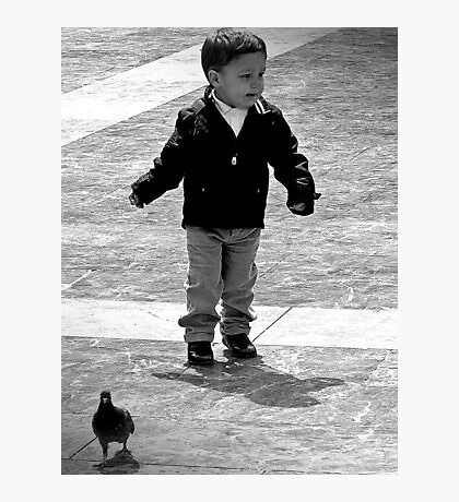 I Think those Birds are following me, well I'm gonna get them! Photographic Print